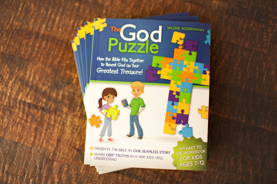 kids devotional book, family devotional book, The God Puzzle